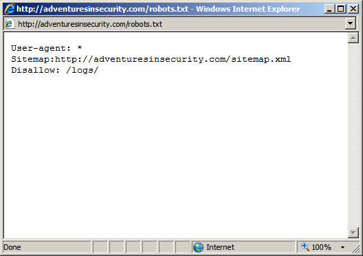 Robots.txt Is NOT A Security Control